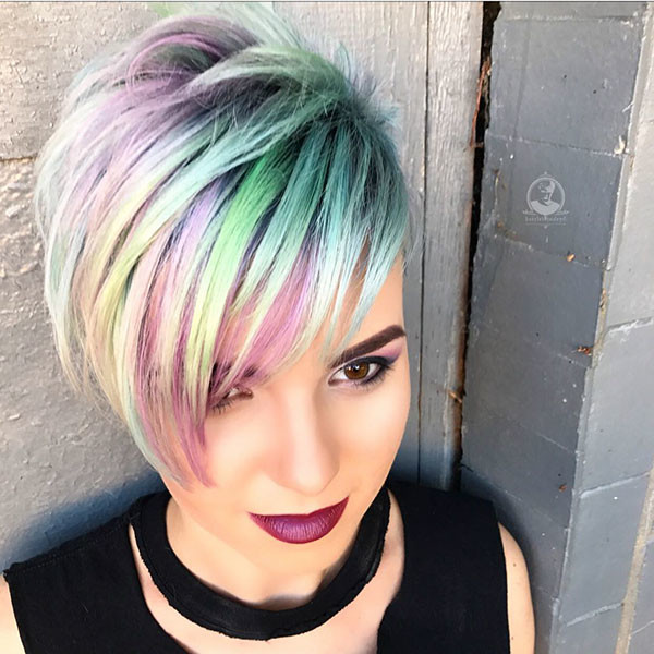 Cute-Hair-Color New Pixie Haircut Ideas in 2019