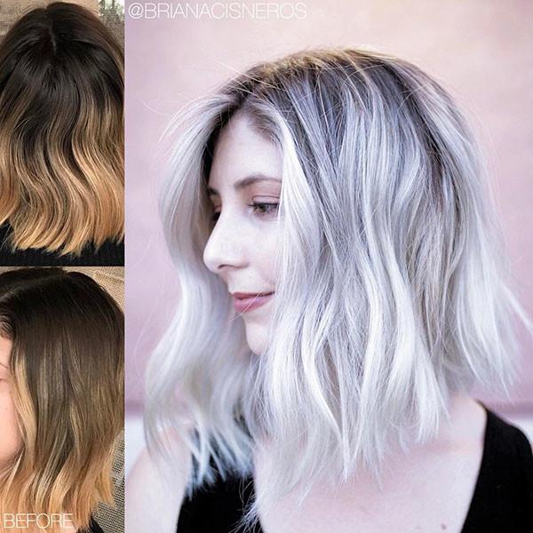 Cute-Long-Bob New Short Blonde Hairstyles