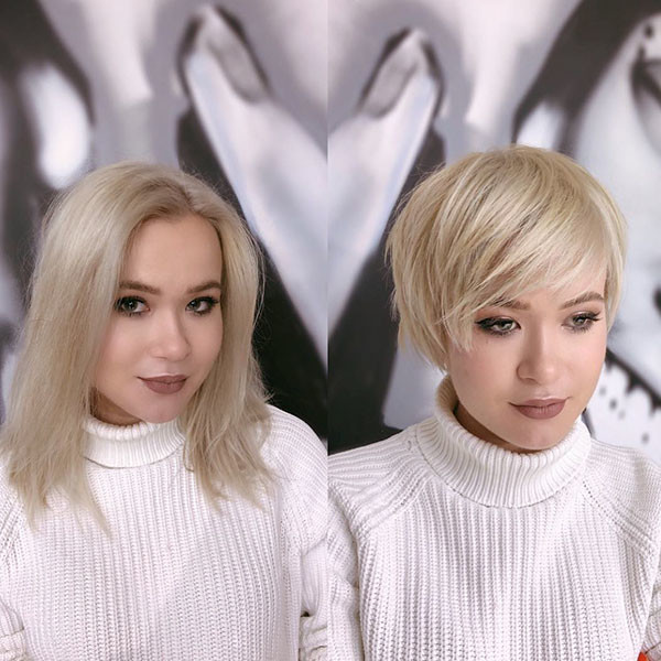 Cute-Pixie New Short Blonde Hairstyles