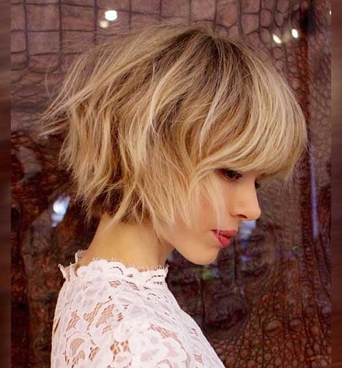 Cute-Shaggy-Bob-Cut-with-Bangs Cute Short Hairstyles and Cuts You Have to See