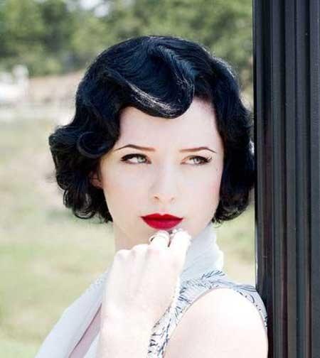 Dark-Sexy-Vintage-Hair Vintage Hairstyles Short Hair