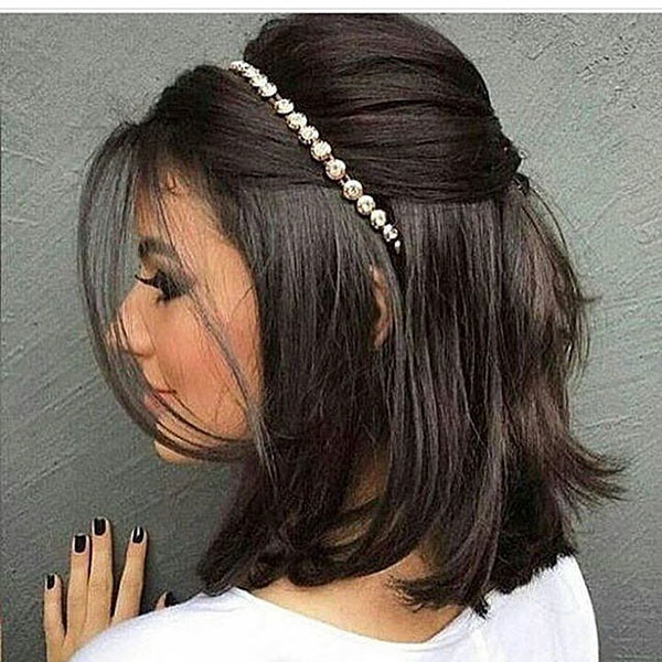 Easy-Style Wedding Hairstyles for Short Hair 2019