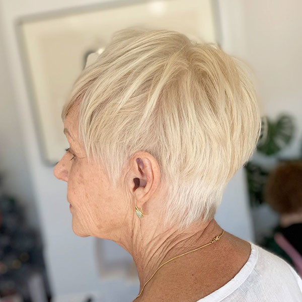 Fine-Hair-Pixie Best Short Hairstyles for Older Women in 2019