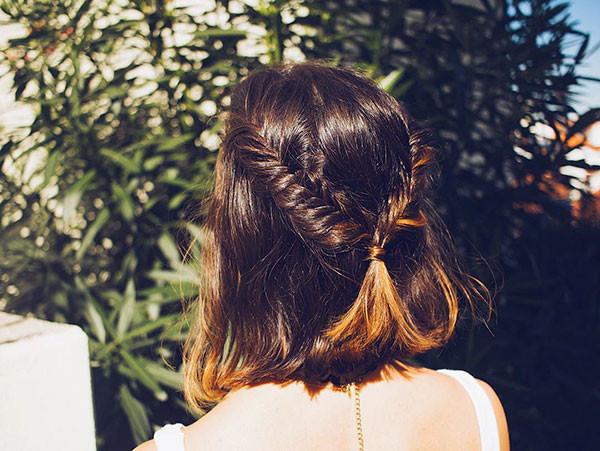 Fishtail-Braid Amazing Braids for Short Hair
