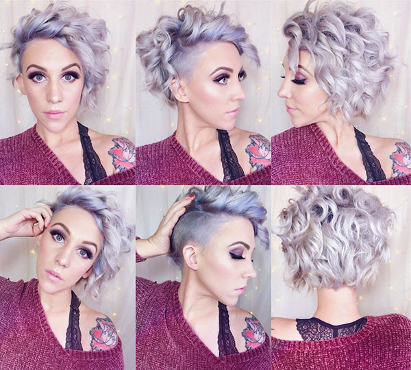 Grey-Colored Best Short Curly Hair Ideas in 2019
