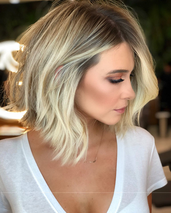 Ice-Blonde-Lob New Short Blonde Hairstyles