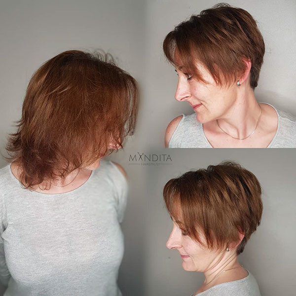 Layered-Haircut Best Short Hairstyles for Older Women in 2019