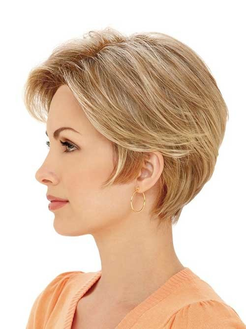 Layered-Short-Haircut-for-Straight-Fine-Blonde-Hair Short Straight Hairstyles for Fine Hair