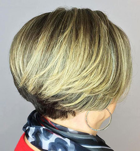 Layered-Short-bob Short Bob Haircuts for Women