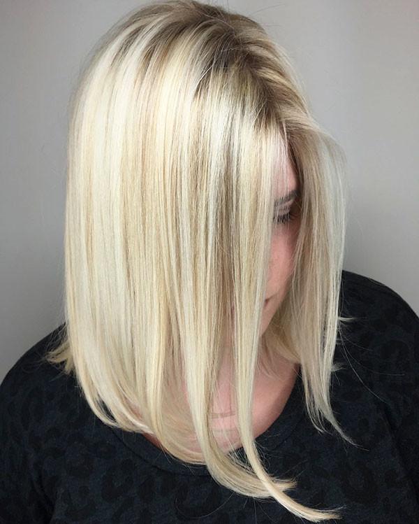 Long-Cute-Bob Popular Short Hairstyles for Fine Hair