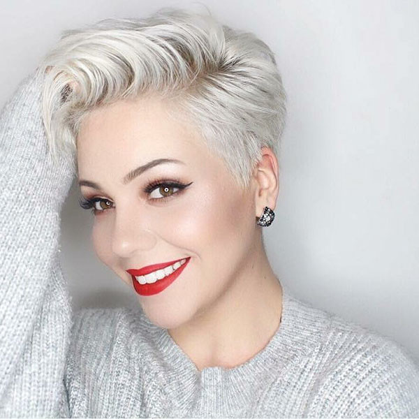 Long-Pixie-Cut New Short Blonde Hairstyles