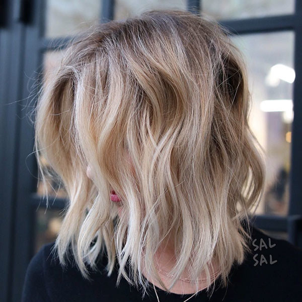 Messy-Choppy-Layers Popular Short Hairstyles for Fine Hair