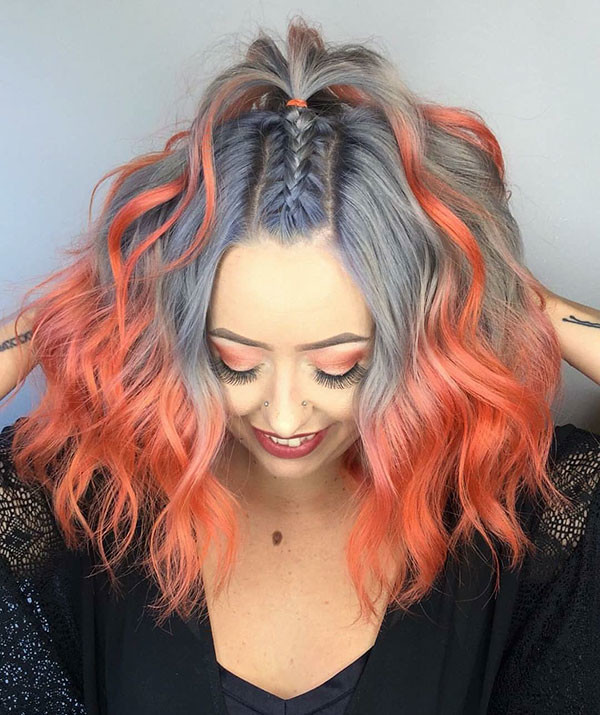 Multi-Colored-Short-Hair Amazing Braids for Short Hair