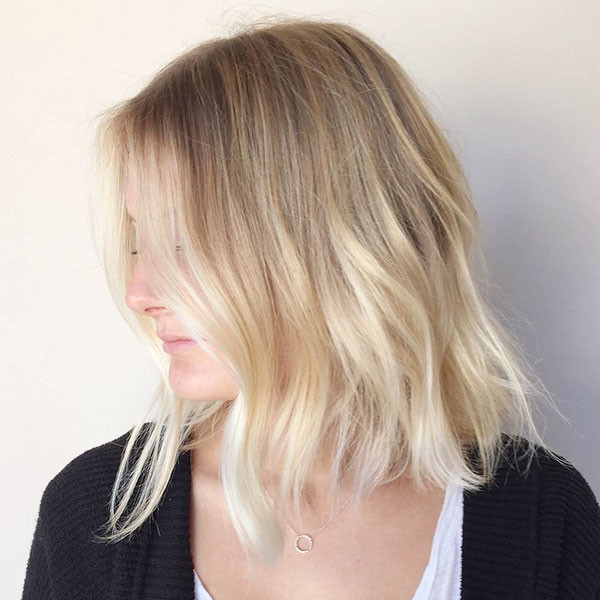 Natural-Blonde-Ombre Popular Short Hairstyles for Fine Hair