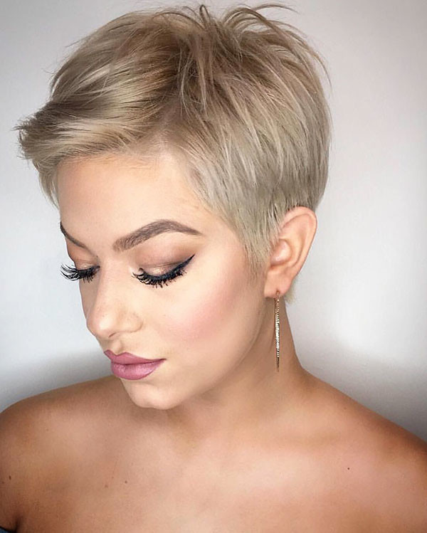 Pixie-Crop-Hair New Short Blonde Hairstyles