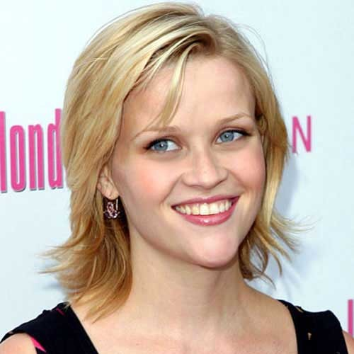Reese-Witherspoon-Straight-Hairstyle-for-Fine-Layered-Hair Short Straight Hairstyles for Fine Hair