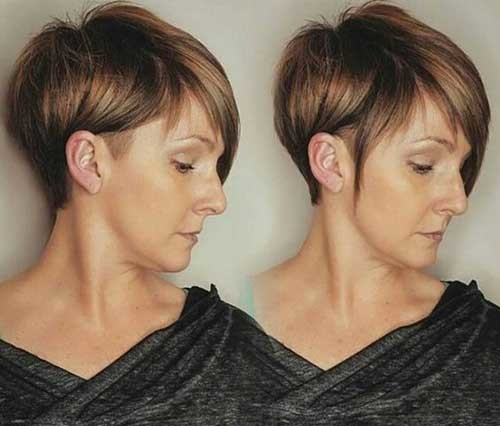 Shaved-Side-1 Brilliant Short Straight Hairstyles