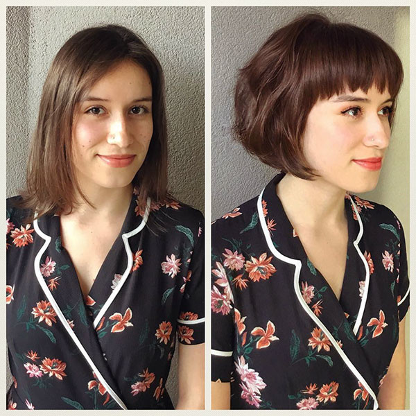 Short-Bob-and-Bangs New Cute Short Hairstyles