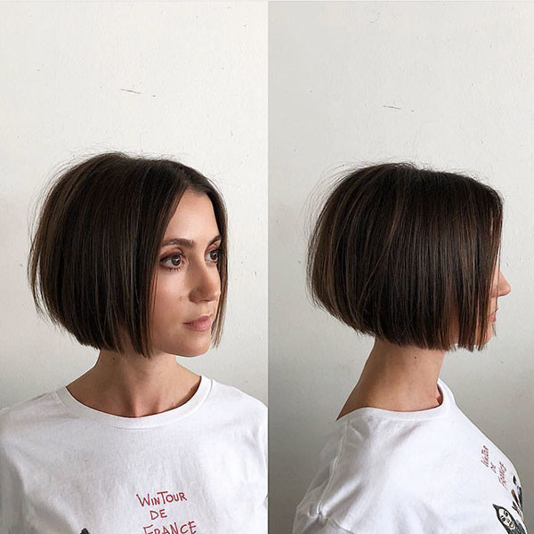 Short-Brown-Bob Popular Bob Hairstyles 2019