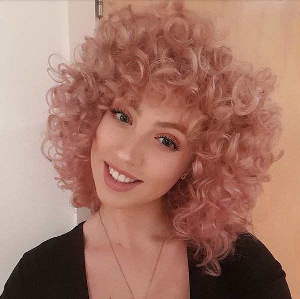 Short-Curly-Blonde-Bob Best Short Curly Hair Ideas in 2019