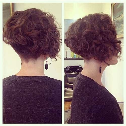 Short-Curly-Bob-Undercut Amazing Graduated Bob Haircuts for Modern Ladies