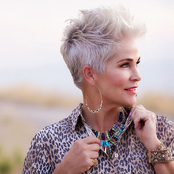 Short-Hairstyle-for-Older-Women Best Short Hairstyles for Older Women in 2019