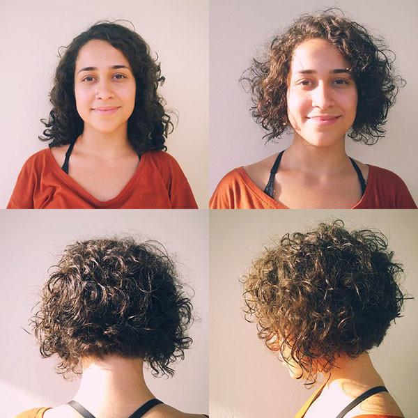 Short-Layered-Curly-Bob-Hair Best Short Curly Hair Ideas in 2019