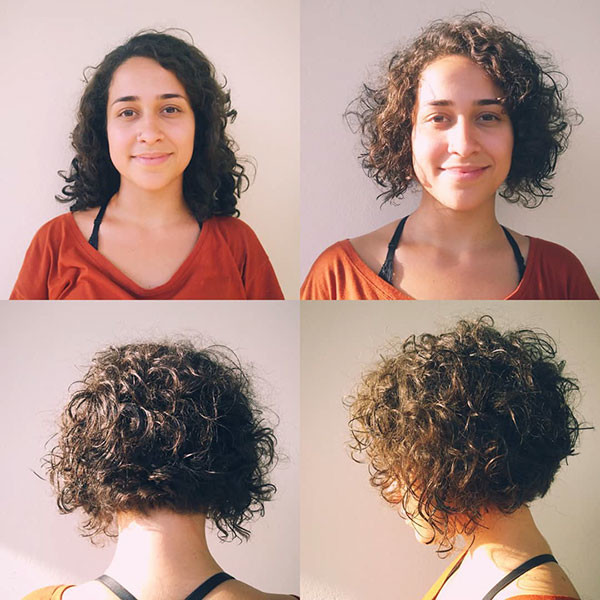 Short-Layered-Curly-Bob-Hair Best Short Curly Hair Ideas in 2019