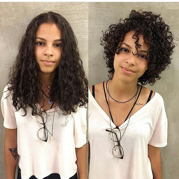 Short-Layered-Curly-Hair-Women Best Short Curly Hair Ideas in 2019