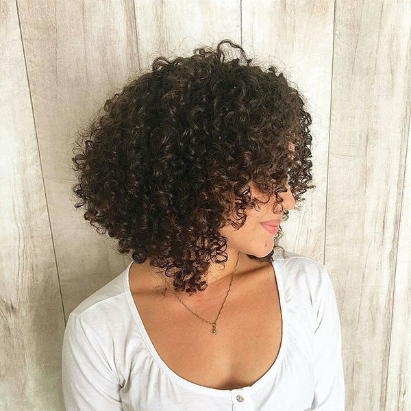 Short-Natural-Curly-Black-Hair Best Short Curly Hair Ideas in 2019