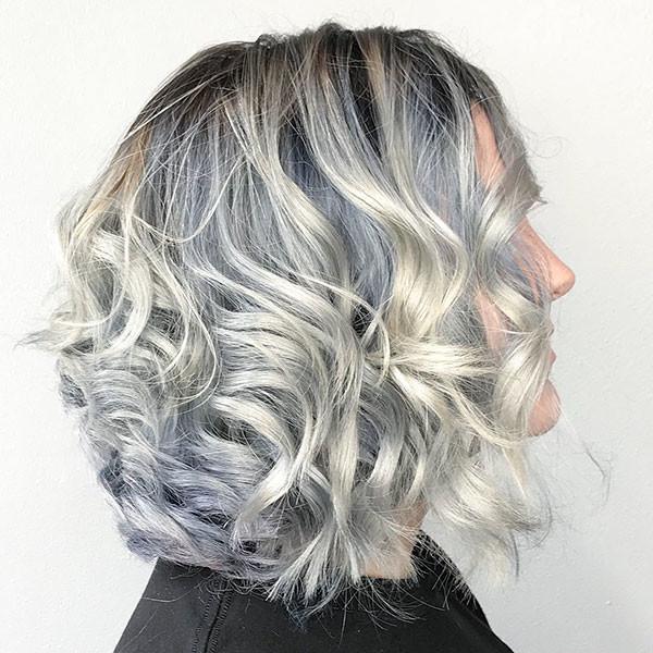 Short-Wavy-Curly-Grey-Hair Best Short Curly Hair Ideas in 2019