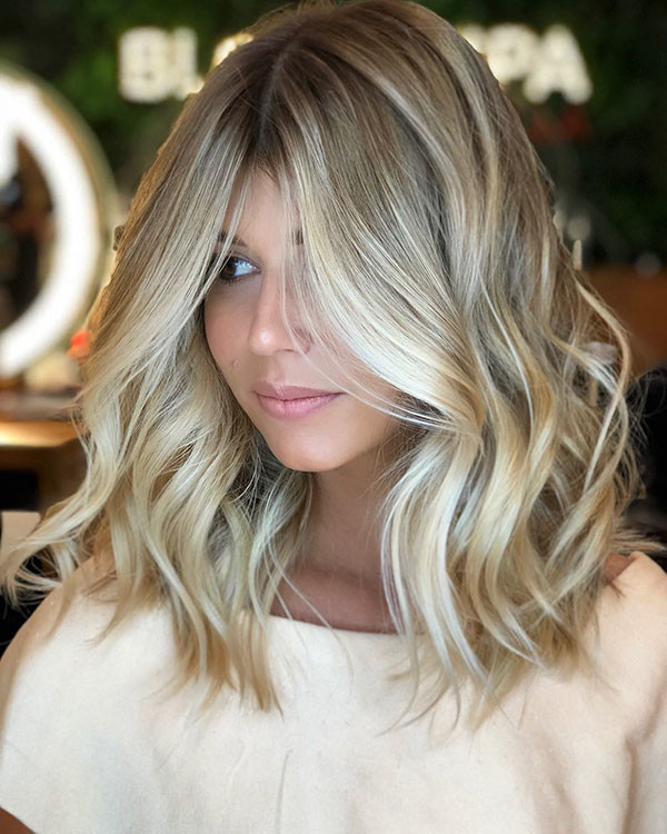 Shoulder-Length-Ash-Blonde-Hair New Short Blonde Hairstyles