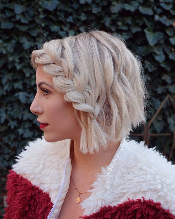 Side-Braid-Short-Hair-2019 Amazing Braids for Short Hair