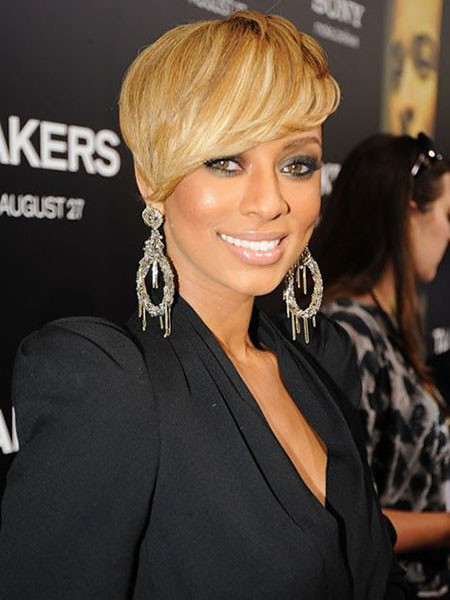 Side-Swept-Hair Keri Hilson Short Hairstyles