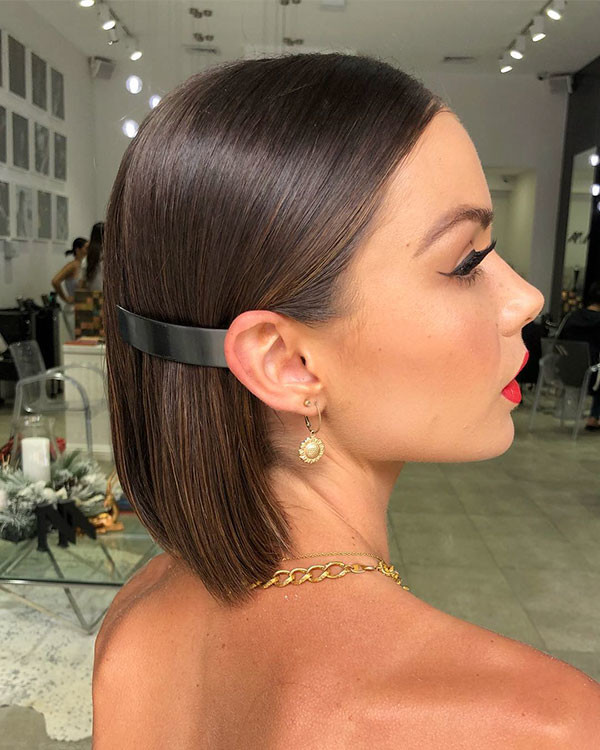 Sleek-Bob-for-Wedding Wedding Hairstyles for Short Hair 2019