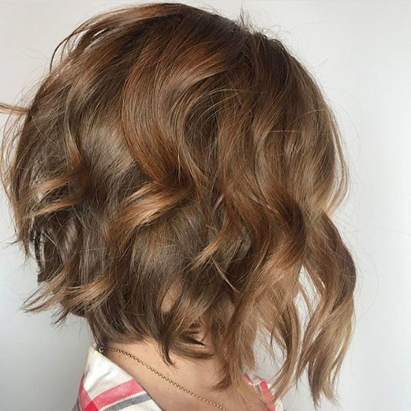Soft-Curly-Inverted-Bob Best Short Curly Hair Ideas in 2019