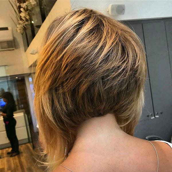 Stacked-Layers-Bob-Hair Popular Bob Hairstyles 2019
