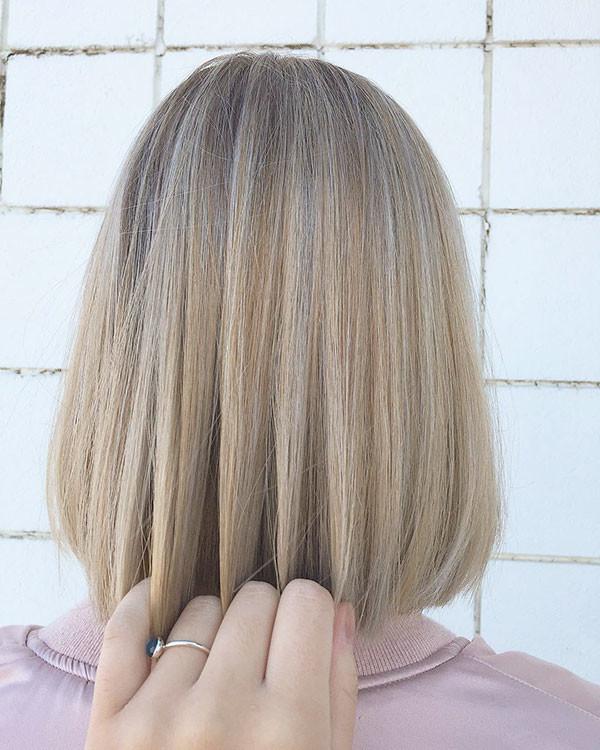 Straight-Blonde-Bob-2019 Popular Bob Hairstyles 2019