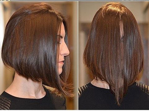 Straight-Inverted-Bob-Hairstyle Popular Bob Hairstyles 2019