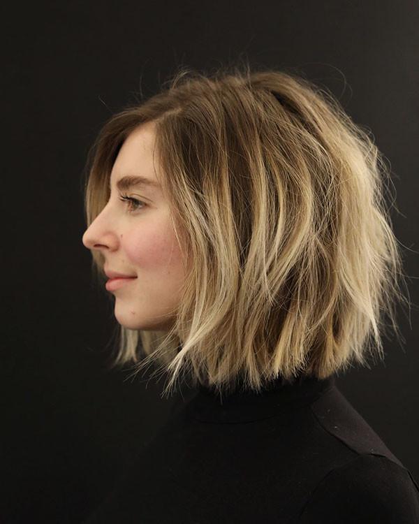 Textured-Bob-Hair New Cute Short Hairstyles