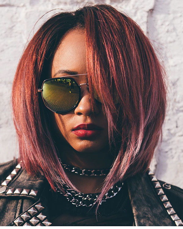 Thick-Layered-Hair Best Bob Hairstyles for Black Women Pictures in 2019
