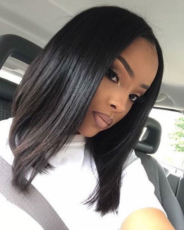 Very-Long-Bob Best Bob Hairstyles for Black Women Pictures in 2019