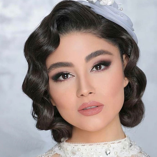 Vintage-Curls Wedding Hairstyles for Short Hair 2019