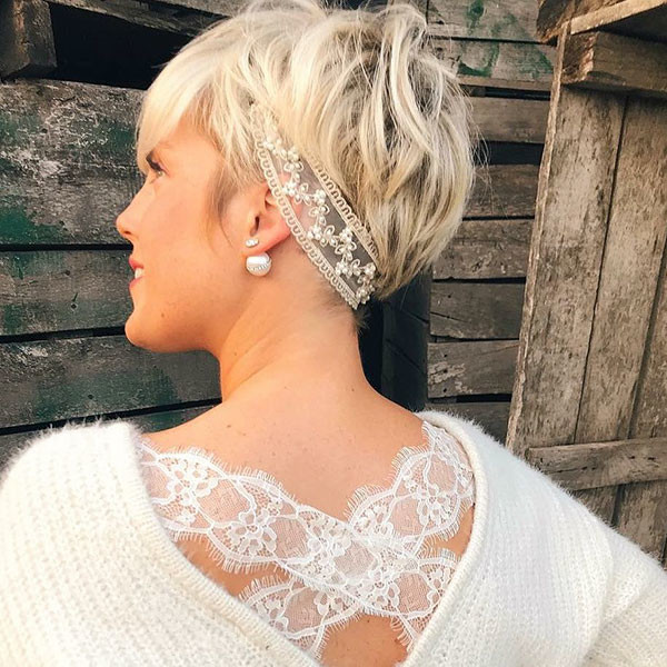 Wedding-Headband Wedding Hairstyles for Short Hair 2019