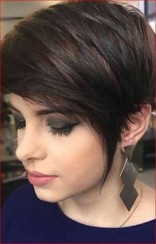 Whick-Bangs Pixie Bob Haircuts for Neat Look