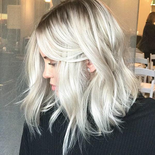 White-Blonde-Lob New Short Blonde Hairstyles
