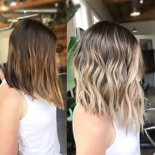 24-brown-and-blonde-balayage-short-hair Beautiful Brown to Blonde Ombre Short Hair