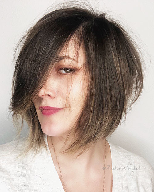 27-short-layered-bob-hairstyles-with-bangs Best Short Layered Bob With Bangs