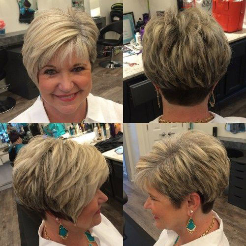 34-pixie-hair-styles-for-older-women Beautiful Pixie Cuts for Older Women 2019