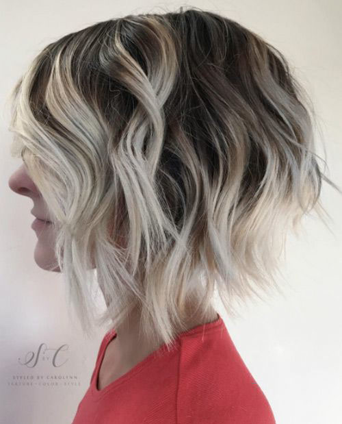 38-short-blonde-brown-hair Beautiful Brown to Blonde Ombre Short Hair